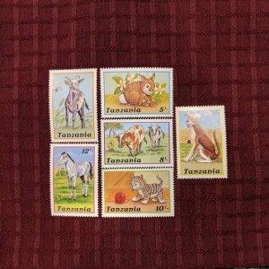 Tanzania 434-9 XFNH complete set, CV $6.10