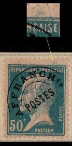 FRANCE Préo 68 50c Pasteur Surch. COLONIAS Spécimen UPU (Col. Portugaise de Goa)