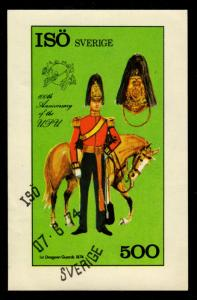 Sweden - Isö Cinderella UPU Centenary (Military Uniform, Horse)