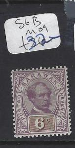SARAWAK (P1812B) BROOKE 6C  SG 13  MOG