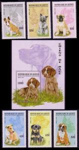 Guinea Dogs 6v+MS SG#1698-MS1704 MI#1596-1601+Block 503