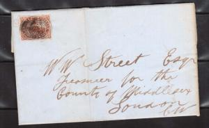 Canada #4 Used On Folded Letter To London  **With Certificate**