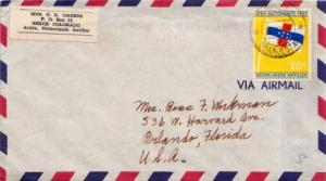 Netherlands Antilles, Airmail, Flags