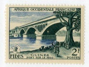 FRENCH WEST AFRICA 66 MH SCV $1.60 BIN .70 BRIDGE