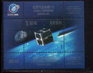Estonia Sc 730 2013 Estcube-2 Satelite stamp sheet mint NH