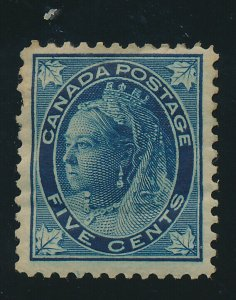 Canada Stamp Scott #70, Mint, Hinge/Paper Remnant