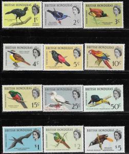 British Honduras 1962 Birds in Natural Color SC# 167-178 MLH Cat Value $85.50