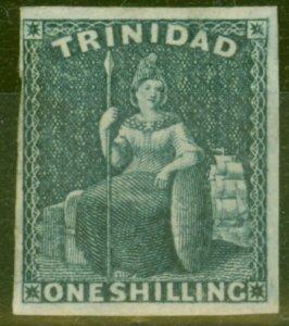 Trinidad 1859 1s Indigo SG29 Fine Mtd Mint