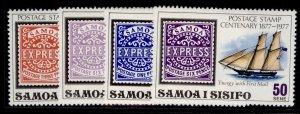 SAMOA QEII SG488-491, 1977 stamp centenary set, NH MINT.