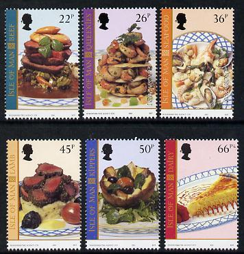 Isle of Man 2001 Europa - Local Dishes perf set of 6 unmo...