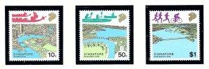 Singapore 508-10 MNH 1987 Rivers    (KA)