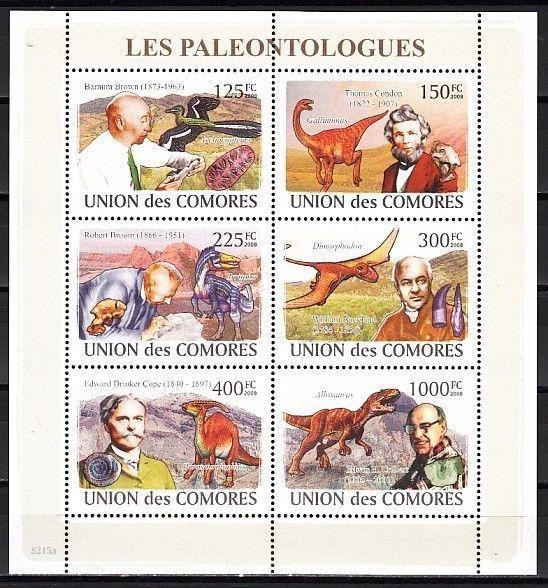 Comoros Is., Mi cat. 1960-1965 A. Dinosaurs sheet of 6.