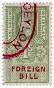 (I.B) George VI Revenue : Foreign Bill 1/-