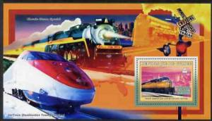Guinea MNH S/S American Trains #2 2006