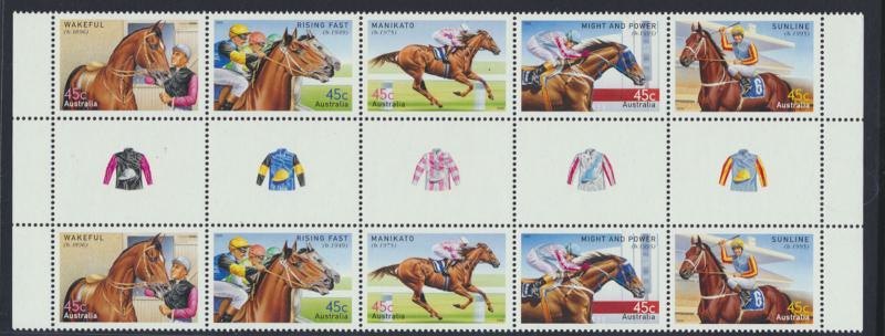 Racehorses  2002 Gutter Pair MNH SG 2246a SC# 2107a