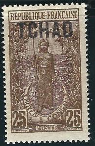 Ubangi Chari Chad 8 Y&T 8 MLH F/VF 1922 SCV $12.50