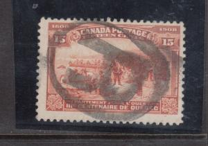 Canada #102 Used Fine With Ideal Registered Cancel