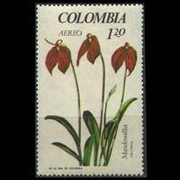 COLOMBIA 1967 - Scott# C490 Orchid 1.2p NH