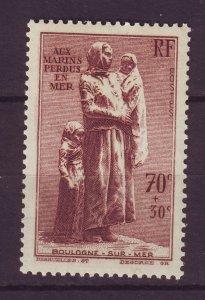 J24606 JLstamps 1939 france set of 1 mh #b93 statue