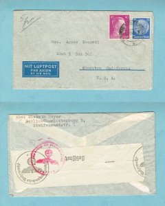 GERMANY - censored airmail to USA, 1941