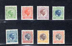 Danish West Indies #51-58,  F/VF,  Unused,   CV $31.75 ....1630049