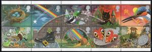 Great Britain Sc 1350-9 1991 Greetings Good Luck stamp set mint NH
