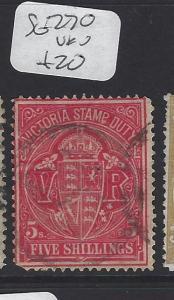 VICTORIA  (P2607B)       5/-   SG 270     VFU
