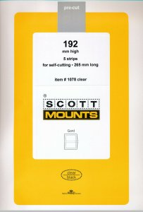 Prinz Scott Stamp Mount 192/265mm - CLEAR (Pack of 5) (192x265  192mm) STRIP