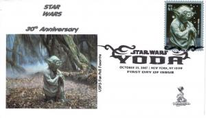 Star Wars/Yoda FDC from Toad Hall Covers!  (#1B)
