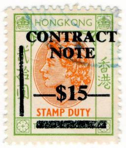 (I.B) Hong Kong Revenue : Contract Note $15 on $20 OP