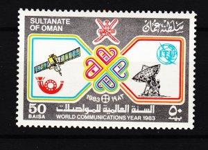 J27624 1983 oman set of 1 mnh #246 communication