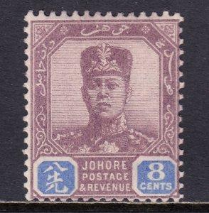 Malaya (Johore) - Scott #81 - MH - Pencil on reverse - SCV $4.50