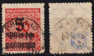 GERMANY REICH [1923] MiNr 0334 BP ( O/used ) [01] geprüft