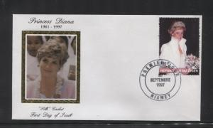 STAMP STATION PERTH Niger #944 CTO FDC Princess Diana Silk Cachet