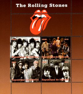 Djibouti 2015 The Rolling Stones Singers Music 4v Mint Souvenir Sheet S/S (#06)