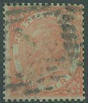 Italy SC# 33 King Victor Emmanuel, 1 Lira, cancelled