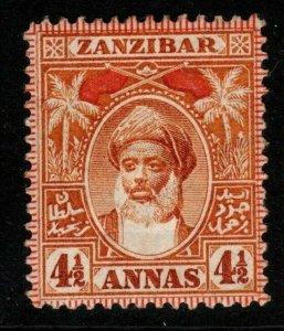 ZANZIBAR SG195 1899 4½a ORANGE MTD MINT