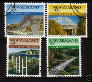 NEW ZEALAND 1985 BRIDGES   SET 4 FU