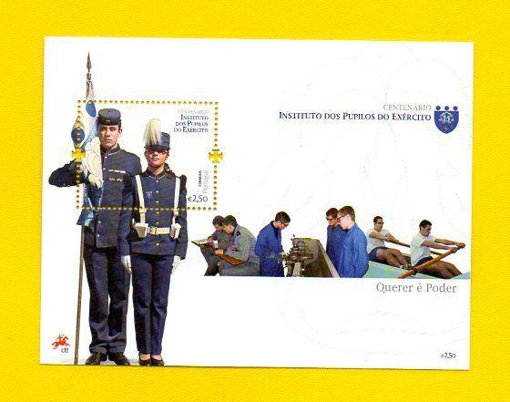 souvenir sheet PORTUGAL PUPILOS DO EXERCITO  2011