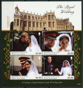 Grenadines Grenada Royalty Stamps 2021 MNH Prince Harry Meghan Wedding 4v M/S