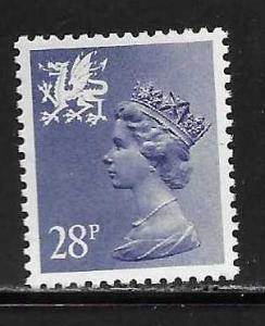 Great Britain Wales WMMH50 28p Machin MNH