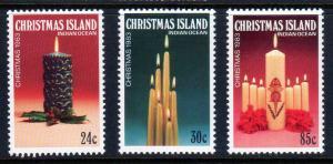 Christmas Island Scott 145-147 Christmas! MNH!