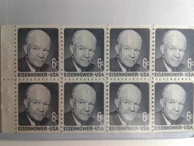 SCOTT # 1393A PANE EISENHOWER GEM MINT NEVER HINGED !!  1971 AMAZING !!!