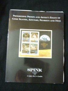 SPINK AUCTION CATALOGUE 2012 COOK ISLANDS PROGRESSIVE PROOFS & ARTISTS ESSAYS