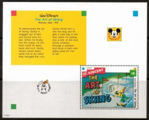 ST.VINCENT SGMS4197c 1999 GOOFY SKIING  MNH