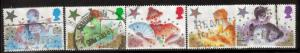 Great Britain Sc 1124-8 1985 Christmas stamps used