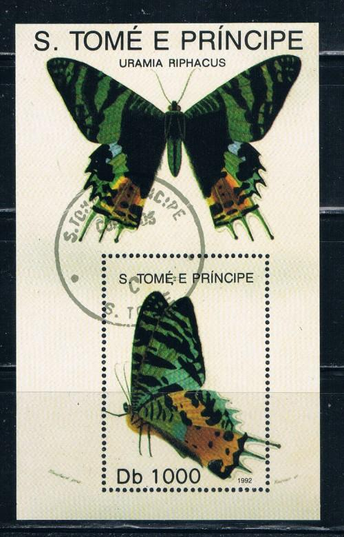 St Thomas and Prince Islands 1084 Souvenir Sheet Used Butterflies (S0149)