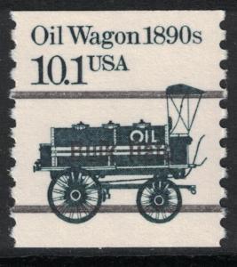 Scott 2130a- Black Precancel, MNH- 10.1c Oil Wagon 1890s, Transportation Coil