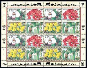 [66882] United Nations UN Geneva 1996 Flora Flowers Blumen Full Sheet MNH