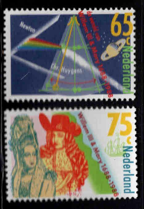 Netherlands Scott 731-732 MNH** 1988 set